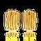Kreolen in Gelbgold aus der Himalaja Kollektion der Goldschmiede OBSESSION Zürich und Wetzikon
