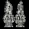 Ohrringe in Palladium mit weissen und schwarzen Brillanten aus der Gremlin Kollektion der Goldschmiede OBSESSION Zürich und Wetzikon