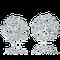 Ohrclips in Weissgold mit Brillanten aus der Milchstrasse Kollektion der Goldschmiede OBSESSION Zürich und Wetzikon