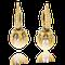 Ohhringe in Gelbgold und Palladium mit Perlen und Brillanten aus der Gremlin Kollektion der Goldschmiede OBESSION Zürich und Wetzikon
