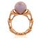 Eternity Ring in Rotgold mit Brillanten und einer Ming-Perle von der Goldschmiede OBSESSION