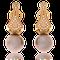 Eternity Ohrclip in Rotgold mit Brillanten und Tahitiperlen von der Goldschmiede OBSESSION
