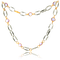 Collier in Rotgold und Edelstahl mit Amethysten aus der Gremlin Kollektion der Goldschmiede OBSESSION Zürich und Wetzikon