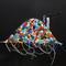 「factory mountain」 F0キャンバス(180×140mm)、刺繍、アクリル、メディウム