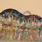 「青い山」 F3キャンバス(273×220mm)、刺繍、アクリル