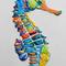 タツノオトシゴ  F0(180x140mm)キャンバス 刺繍、