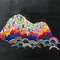「聖山」 F0キャンバス、刺繍、アクリル、メディウム