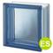 Wärmedämmung  ES /  Energy Saving design pegasus glasbausteine-center glasbausteine-center.de Q19 19x19x8 Vollsicht glatt Clearview smooth lisse blau blue blu bleu