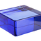 Seves Vetropieno Qadrato Vitrablok Blue Blau blu Bleu Glasstein Glass Brick Solid Glas  Glasziegel Ziegel aus Glas Vollglasklinker Farbe colour color Glaswand glass wall Glasklinkerwand Glasziegelwand Vitrablok Bricks solid glass block vetro Nederland ne