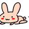 『うさぎさん』 お絵描きチャットのらくがき 2012.2.26  お絵かきチャット