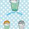『Melon soda』 自分のロゴ とりあえず自分の好きなもの(メロンソーダ)を入れたかった 2011.12.15 美術リテラシー(DTP)にて ミリペン,Illustrator