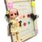 写真立てに、ロリータパンクな女の子とポップなお花を飾りました。