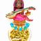 手作り仲間であるブロ友、猿殿の作品に触発されて、インドをテーマに女の子を制作しました。