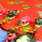 金魚姫のカラーに合わせた、ミニ金魚ちゃんのマスコットがゆらゆら揺れます。