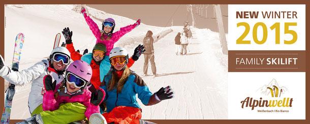 im Dezember 2015 startet der neue Skilift in Weißenbach im Ahrntal in der Ferienregion Kronplatz