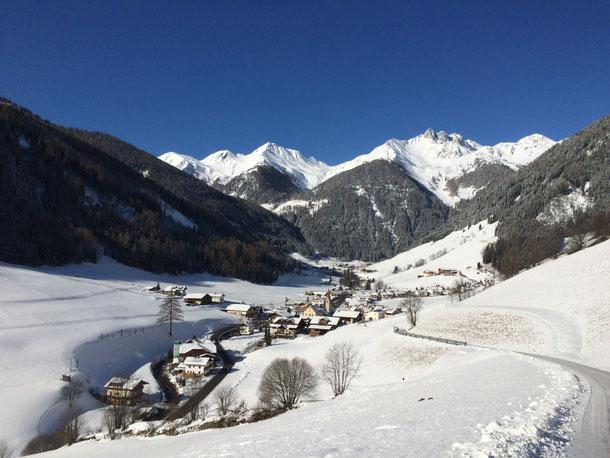 ´Der Winter in Weißenbach im Ahrntal in der Ferienregion Kronplatz ist ein Traum in Weiß