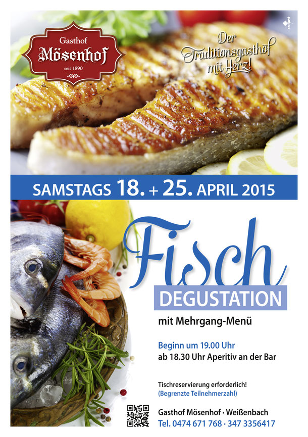 Gasthof Mösenhof - Fischdegustation im April 2015