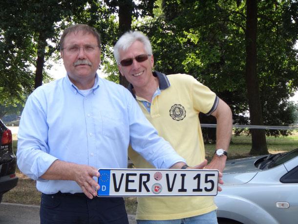 Gerd-Jürgen Rahn und Manfred Sotek vom Planungsteam