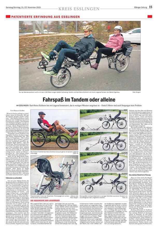 Eßlinger Zeitung am 21.11.2015