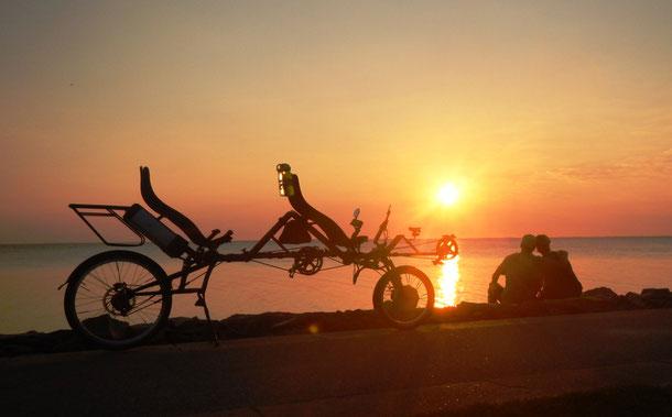 Sonnenuntergang am Zickerhörn auf Rügen