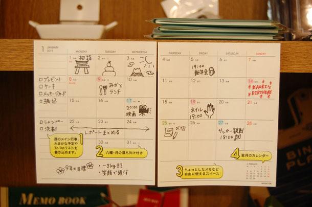 わたしの手帳中身 月間スケジュール