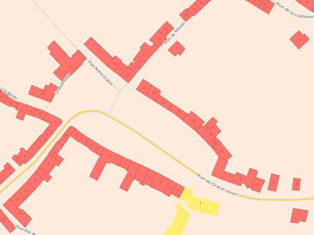Cliquez pour agrandir - Hôtel de Ville (Rue du Grand Vivier) - Situé au n°2 sur le plan