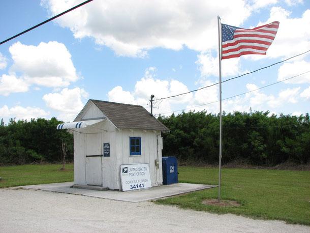 das kleinste Postamt der USA in Ochopee