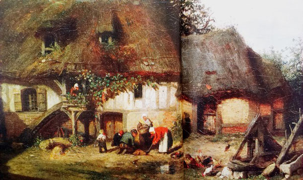 Bondegård i Nomandiet (maleri af Nicolas louis Cabat)