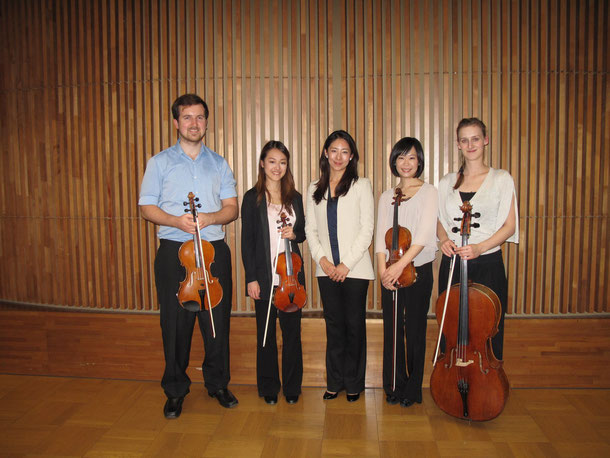 Toki Quartet with composer Yuka Takechi, at Tokyo University of Arts