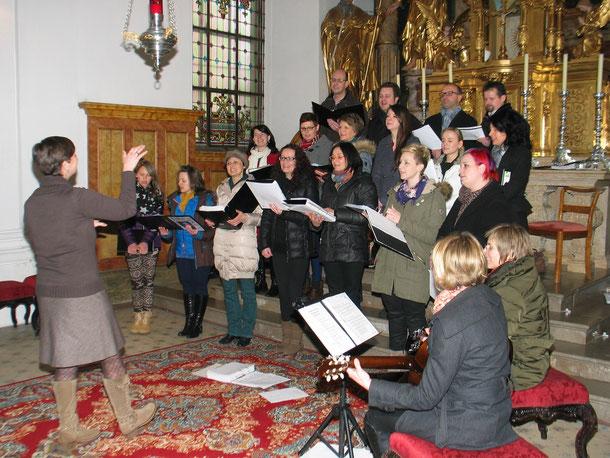 Da Capo beim Gottesdienst für Liebende in Mureck, 09. Februar 2014