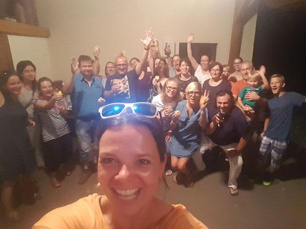 Jause zum 40er von Sandra Ortner! Natürlich wieder mit Selfie.... :)