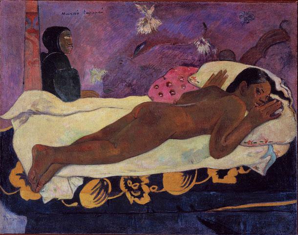 ポール・ゴーギャン《死者の霊が見ている》(1892年)