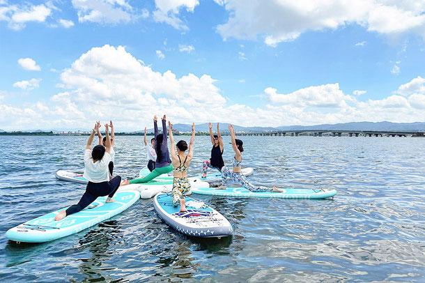 滋賀 琵琶湖 SUPYOGA(サップヨガ)体験!