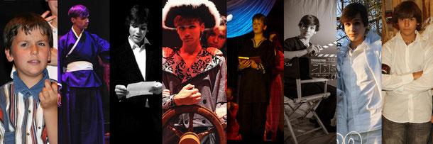 Armel dans Cabaret, Olympe, Désenfantés, Exils, Un Secret, Révolution, Millionnaire, La Vague. Cliquez sur l'image pour l'agrandir.