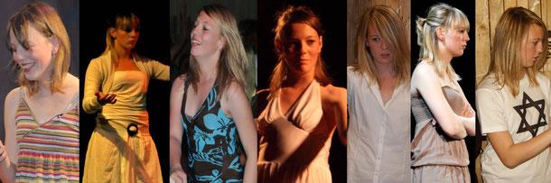 Delphine dans Désenfantés, H-1, Exils, Olympe, La Vague.Cliquez sur l'image pour l'agrandir.
