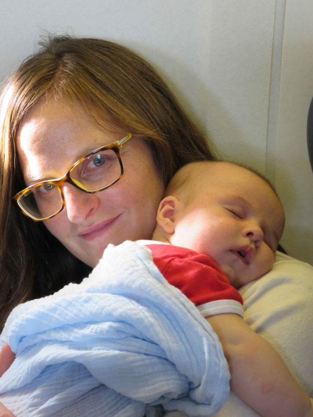 Baby Sleeping on Flight