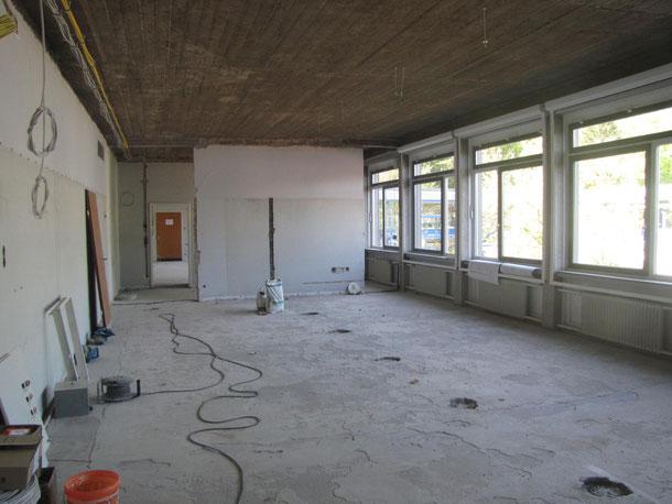 Bauarbeiten Physikraum an der JBS