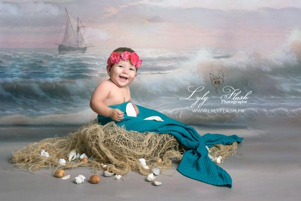 photo plage bébé mer sanary bandol six fours les plages var