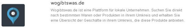 Web-Eintrag in wogibtswas.de