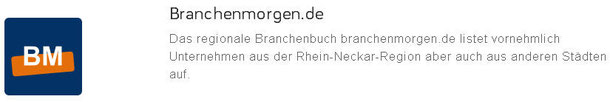 Web-Eintrag im Branchenmorgen.de