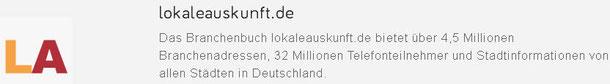 Web-Eintrag in lokaleauskunft.de