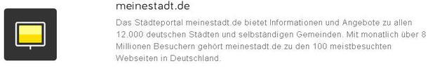 Web-Eintrag in meinestadt.de