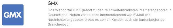 Web-Eintrag in GMX