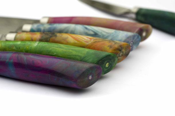 Facto, Messermanufaktur, Recyclingmesser, nachhaltige Messer, Messerdesign, Carbonstahlmesser, bunte messer, plastikmesser, nachhaltige Produkte