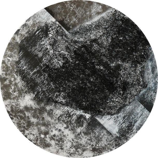 Katharina Lehmann, Bowl, Ø 100 cm, 2019 · Acrylic, thread on canvas