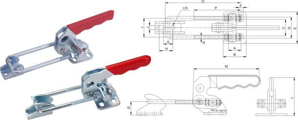 Verschlussspanner-Bügelspanner horizontal CH-40820, CH-40840, CH-40870