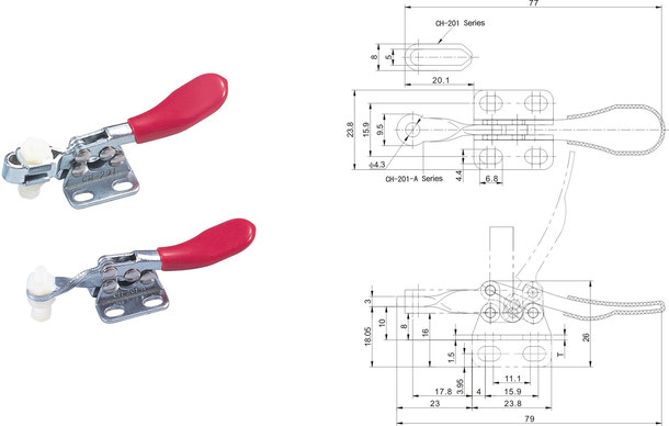 Waagrechtspanner Horizontalspanner mit waagrechtem Fuß CH-201 CH-201-I