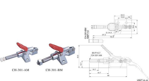 Push-Pull clamp with angle base CH-301-AM, CH-36204-M, CH-36224-M
