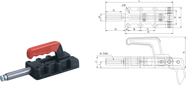 Push-pull type toggle clamp heavy version CH-30600, CH-21300, CH-32500, CH-35000
