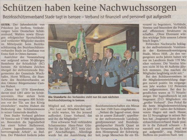 Qelle: Stader Tageblatt vom 13.03.2018